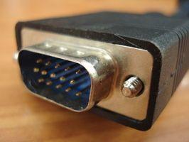 Cómo conectar el cable desde un puerto RGB de ordenador portátil a un Monitor de computadora externa