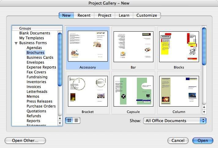 Cmo hacer un folleto en microsoft word 2004 ubiquitour 4 cmo hacer un folleto en microsoft word 2004 reheart Gallery
