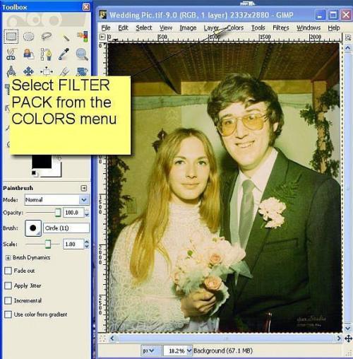 Cómo utilizar el paquete de filtro GIMP