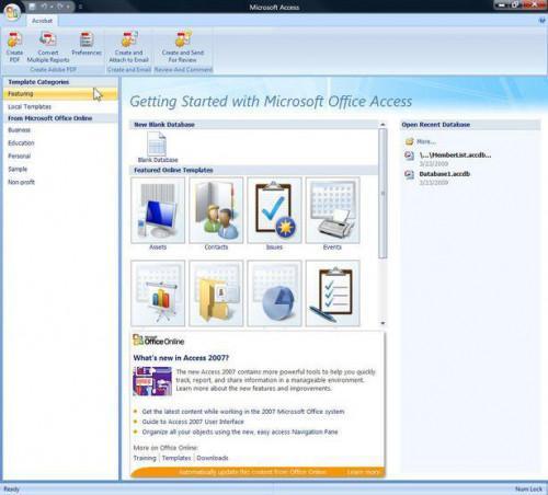 ¿Qué es una base de datos de Microsoft Access?