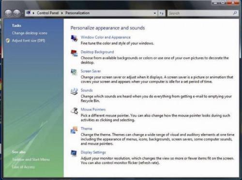 Cómo cambiar el tamaño de pantalla en Windows Vista