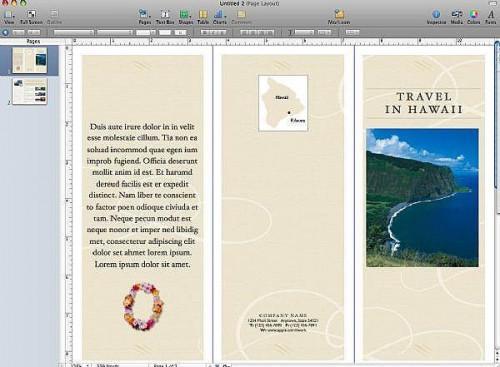 Cómo crear un folleto con páginas de Apple ' 09