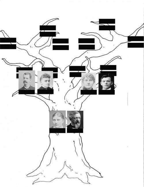 Cómo dibujar el árbol genealógico con ramas de árboles en Photoshop