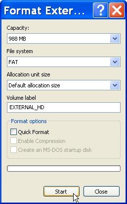Cómo formatear un disco duro externo 1