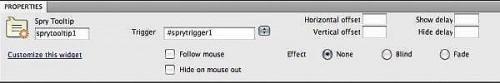 Cómo utilizar el Widget de información sobre herramientas Spry en Dreamweaver CS4