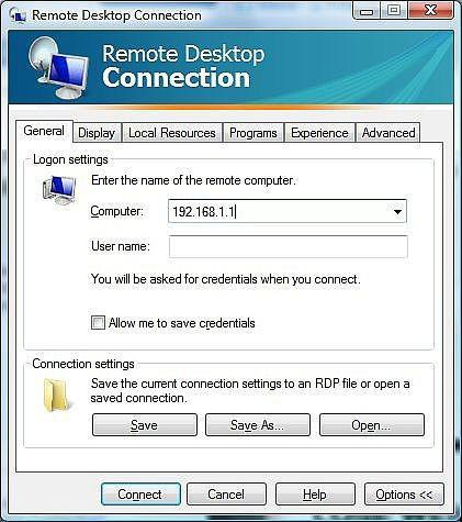 Cómo crear un acceso directo del escritorio remoto para conectarse a una máquina en Particular