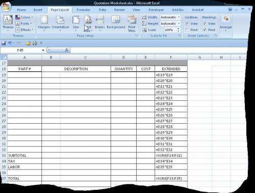 Cómo utilizar Excel para crear un sistema de cotizaciones