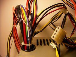 ¿Cual cable es que en una conexión de alimentación de CD-ROM?